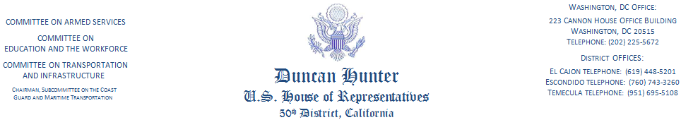 Duncan Hunter Header