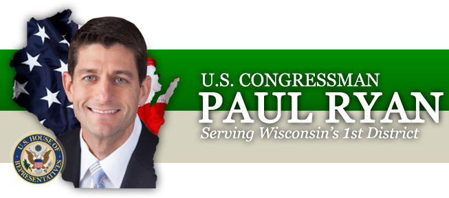 U.S. Congressman Paul Ryan - Serving Wisconsin's 1st District